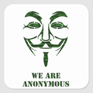 Anonymous Square Sticker