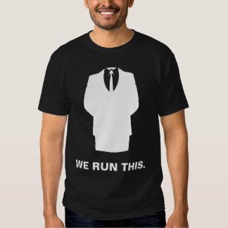 "Anonymous  T-Shirt ""WE RUN THIS"" Black"