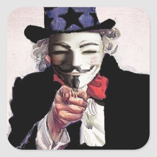 Anonymous wants YOU Square Sticker