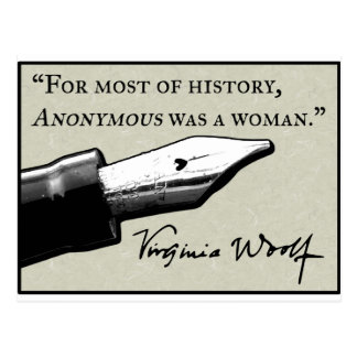 Anonymous Was a Woman Postcard