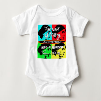 Anonymous Was a Woman ~ Virginia Woolf quote Baby Bodysuit