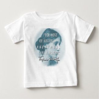 Anonymous Was a Woman ~ Virginia Woolf quote blue Baby T-Shirt