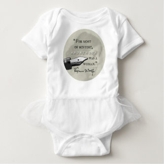 Anonymous Was a Woman ~ Virginia Woolf quote circl Baby Bodysuit