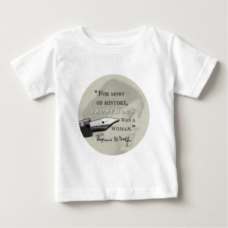 Anonymous Was a Woman ~ Virginia Woolf quote circl Baby T-Shirt