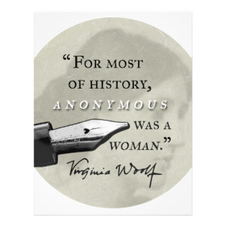 Anonymous Was a Woman ~ Virginia Woolf quote circl Letterhead