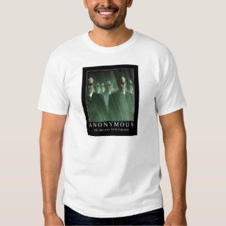 Anonymous we are not your friends t shirts