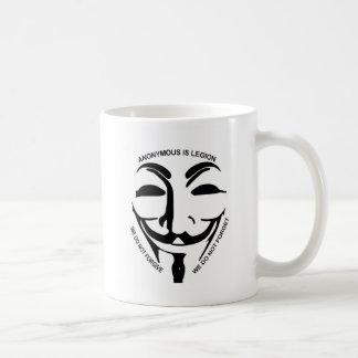Anonymous White Coffee Mug