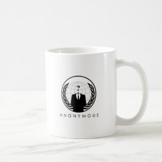 Anonymous White Mug (logo)