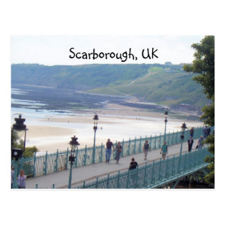 another beach view, Scarborough, UK Postcard