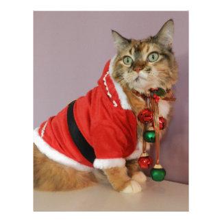 Another Christmas Santa cat Custom Letterhead