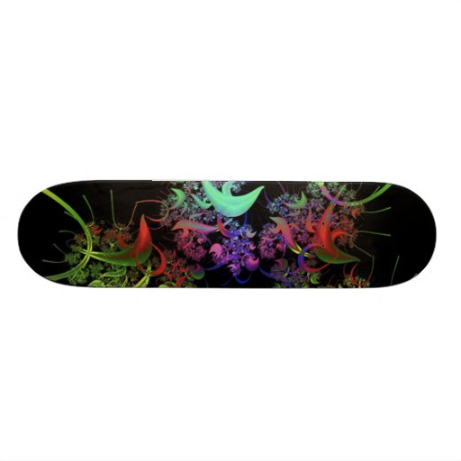 another-colourful-fractal skateboard deck