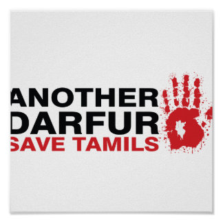 Another Darfur Save Tamils Poster