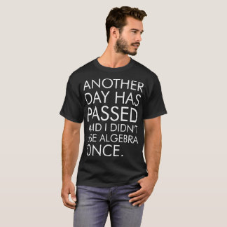 Another Day Has Passed Did Not Use Algebra Once T-Shirt