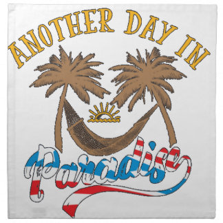 Another Day in Paradise Napkin