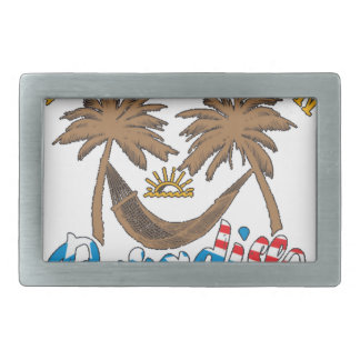 Another Day in Paradise Rectangular Belt Buckle