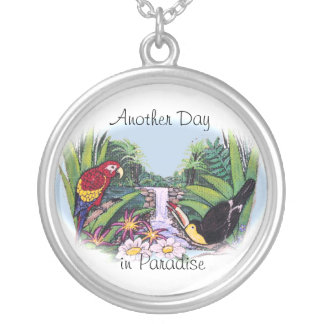 Another Day in Paradise Silver Plated Necklace