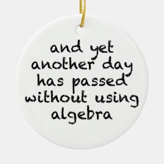 Another Day Without Algebra Round Ceramic Ornament