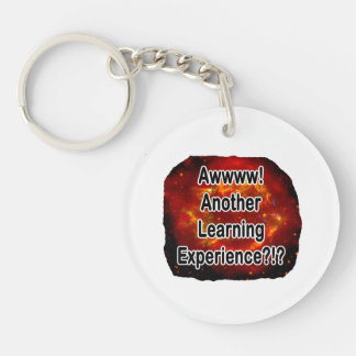 another learning experience nova 1 Double-Sided round acrylic keychain
