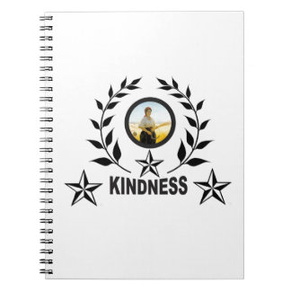 another round for kindness spiral notebook