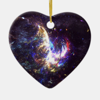 Another Space Ceramic Heart Ornament