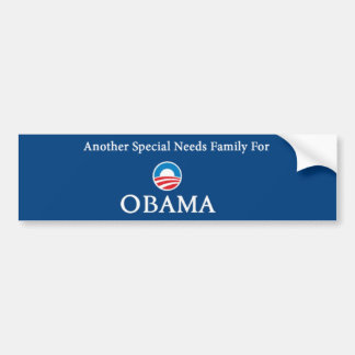 Another Special Needs Family For Obama Bumper Sticker