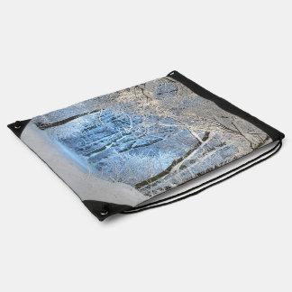 another winter wonderland drawstring bag