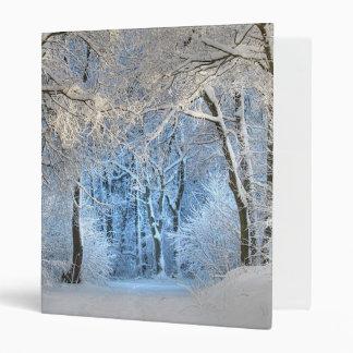 Another winter wonderland vinyl binder