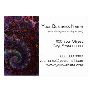 Another World Fantasy Fractal Art Abstract Large Business Card