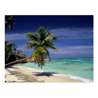 Anse Sourse D'Argent Beach, La Digue Postcard