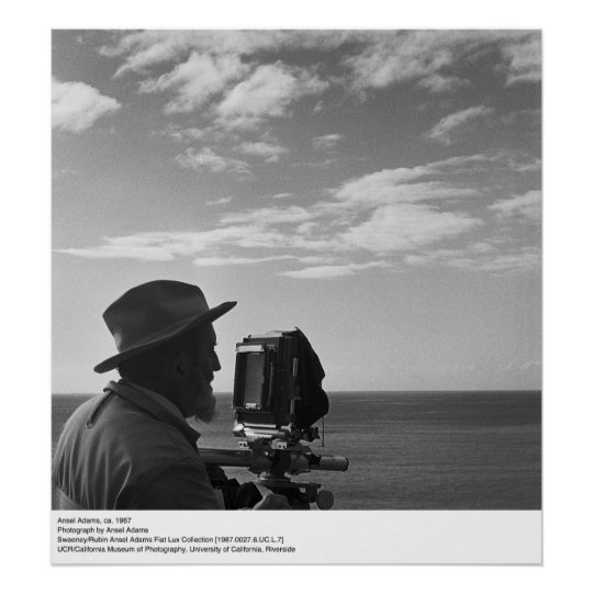 Ansel Adams Self Portrait, ca. 1967 Poster