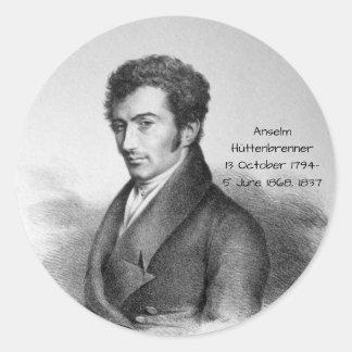 Anselm Huttenbrenner 1837 Classic Round Sticker