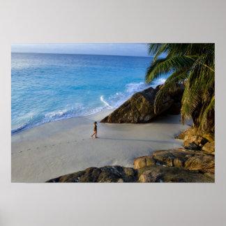 Ansi Victorin Beach, Fregate Island Poster