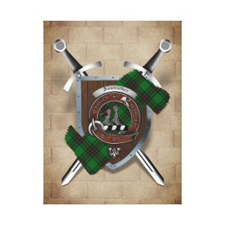Anstruther Clan Badge Crossed Swords Canvas Print