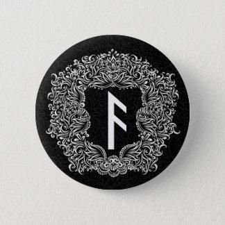 Ansuz-rune / Prosperity, Vitality 2 Inch Round Button