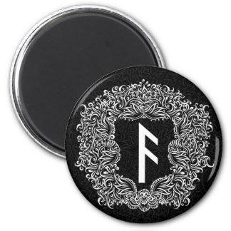 Ansuz-rune / Prosperity, Vitality 2 Inch Round Magnet