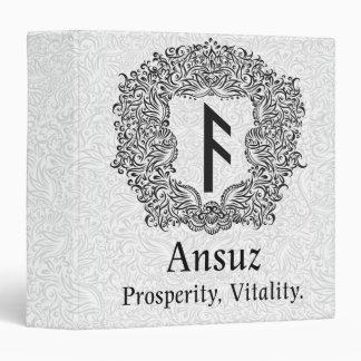 Ansuz-rune / Prosperity, Vitality 3 Ring Binders