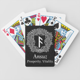 Ansuz-rune / Prosperity, Vitality Bicycle Playing Cards