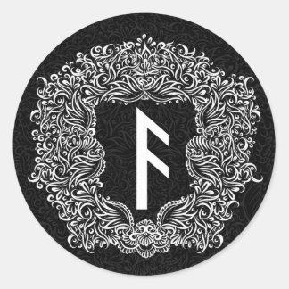 Ansuz-rune / Prosperity, Vitality Classic Round Sticker