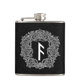 Ansuz-rune / Prosperity, Vitality Hip Flask