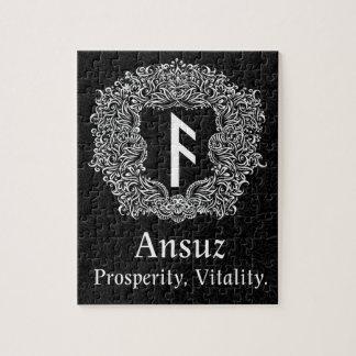 Ansuz-rune / Prosperity, Vitality Jigsaw Puzzle