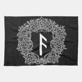 Ansuz-rune / Prosperity, Vitality Kitchen Towel