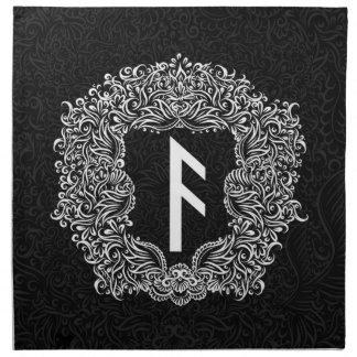 Ansuz-rune / Prosperity, Vitality Napkin