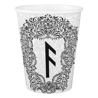 Ansuz-rune / Prosperity, Vitality Paper Cup