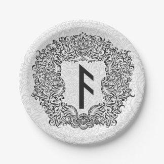 Ansuz-rune / Prosperity, Vitality Paper Plate