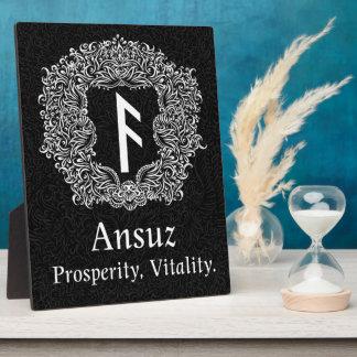 Ansuz-rune / Prosperity, Vitality Plaque