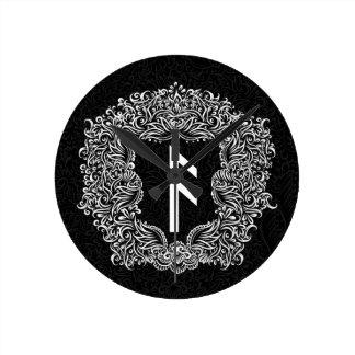 Ansuz-rune / Prosperity, Vitality Round Clock