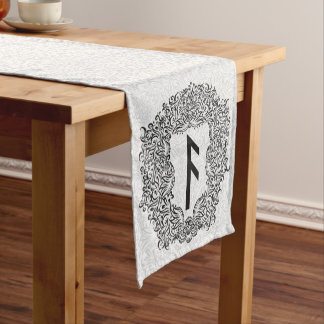 Ansuz-rune / Prosperity, Vitality Short Table Runner