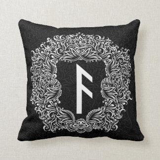 Ansuz-rune / Prosperity, Vitality Throw Pillow