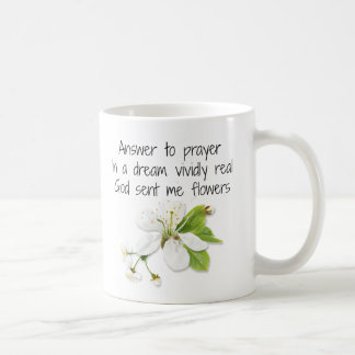 Answer Prayer White Flower Mug