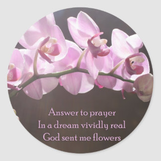 Answer To Prayer Classic Round Sticker